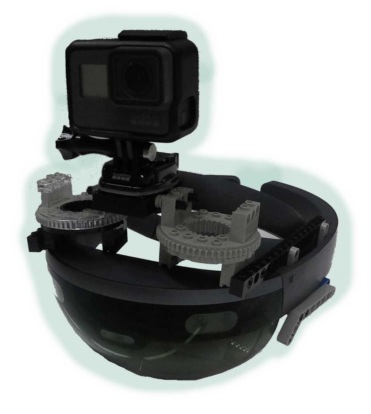 HoloLens with GoPro mounted on top